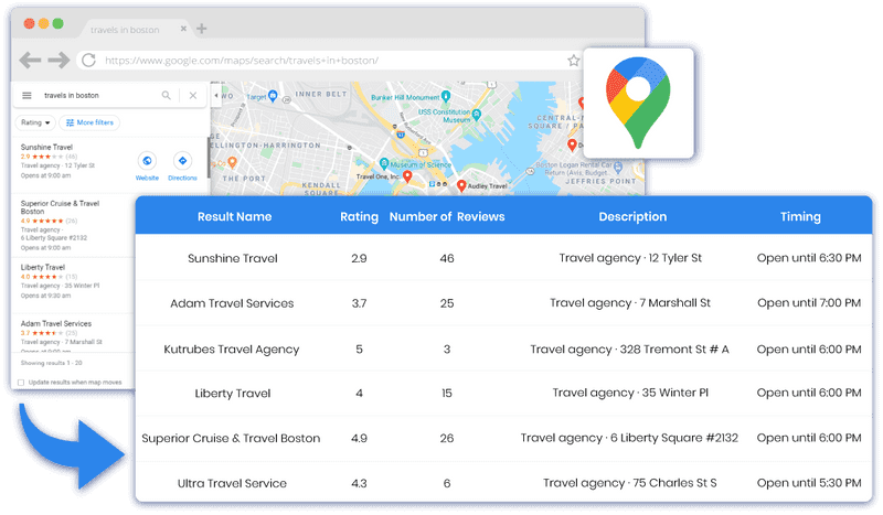Scrape Google Maps for Local Business information