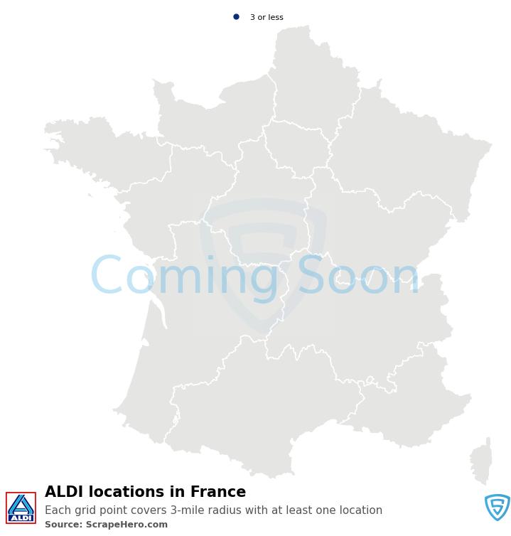 ALDI Store locations in France