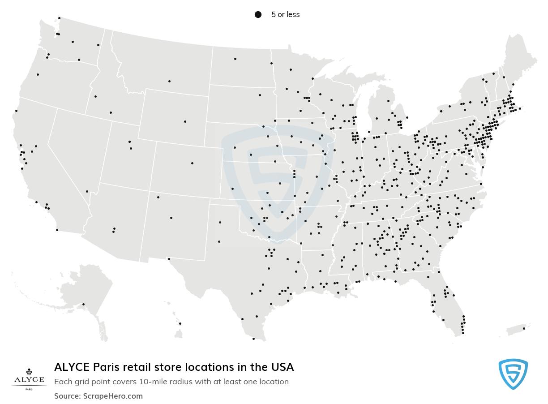 ALYCE Paris store locations