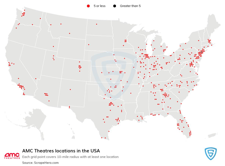 AMC Theatres locations