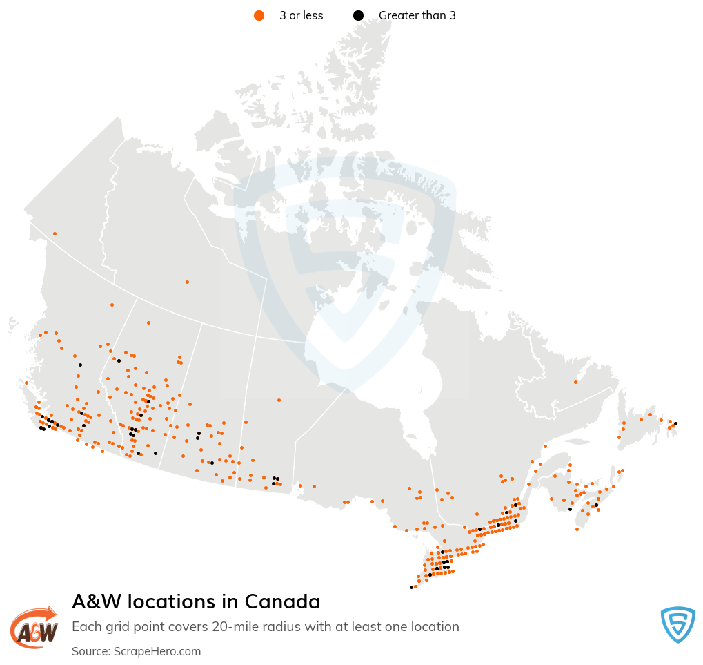 A&W locations