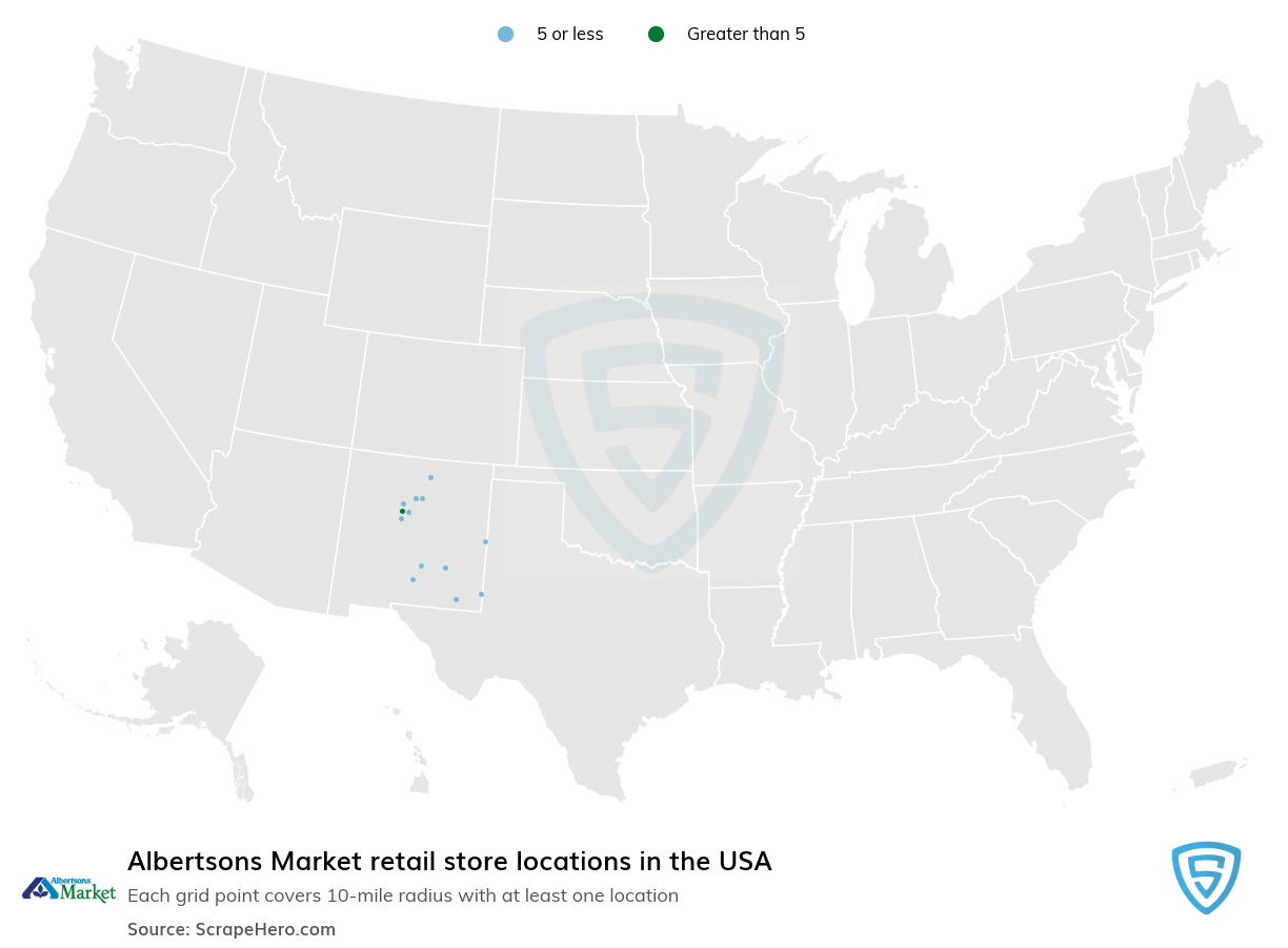 Albertsons Market Store locations in the USA