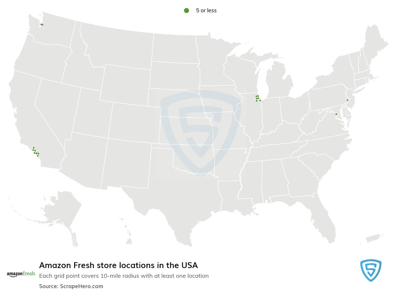 Amazon Fresh store locations