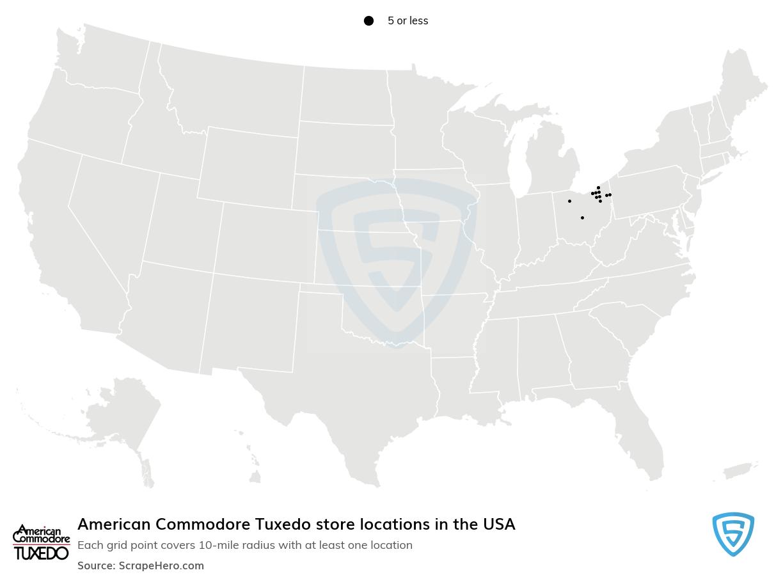 American Commodore Tuxedo store locations