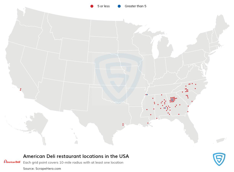 American Deli store locations