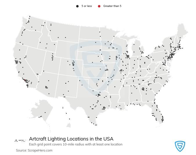 Artcraft Lighting locations