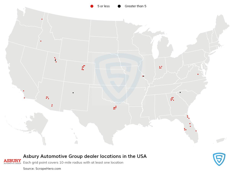 Asbury Automotive Group dealership locations