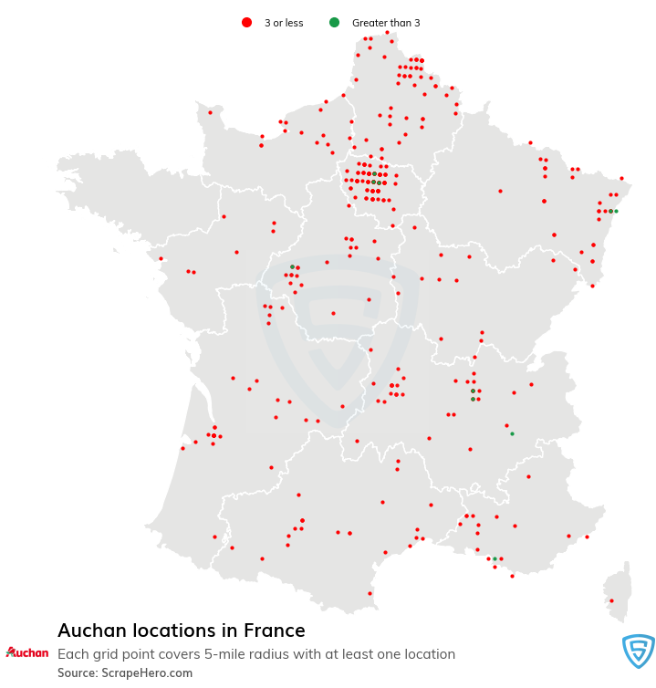 Auchan store locations