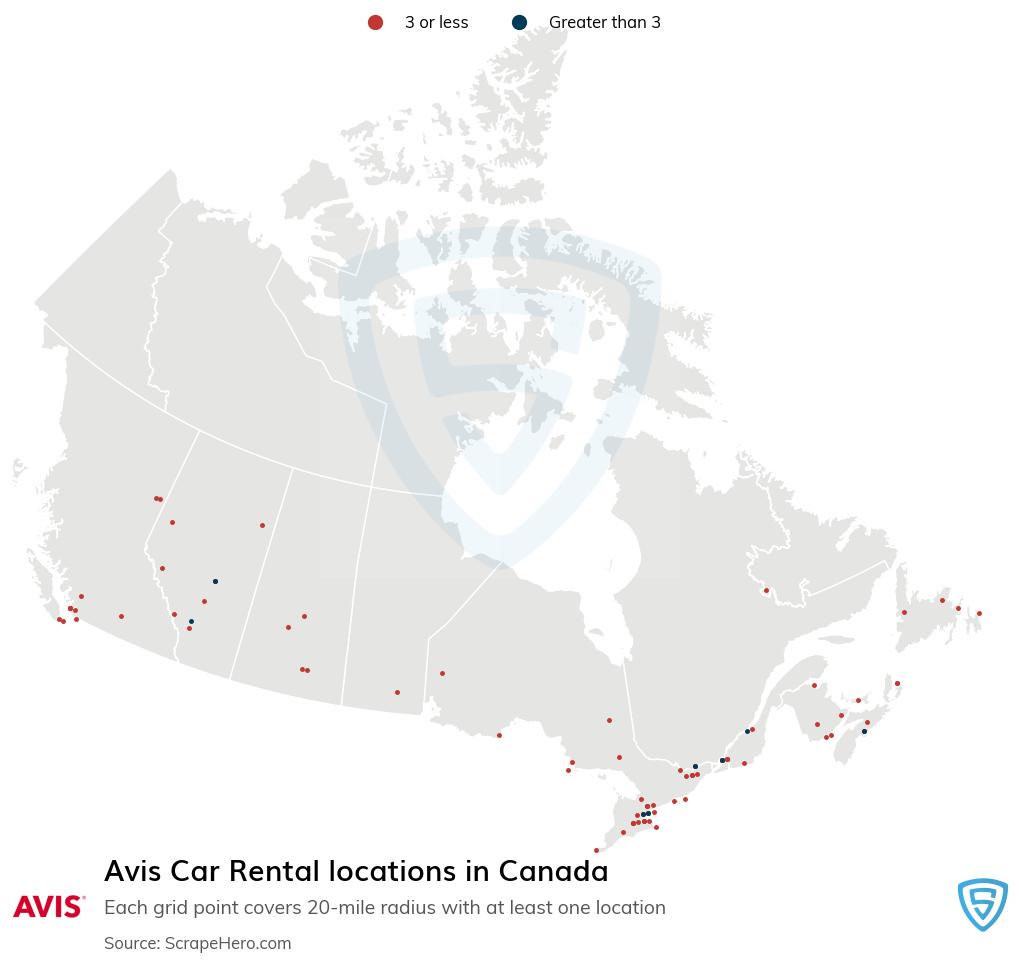 Avis Car Rental locations