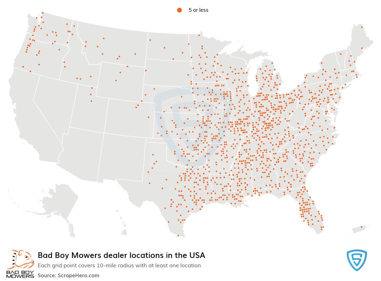 Bad Boy Mowers dealership locations