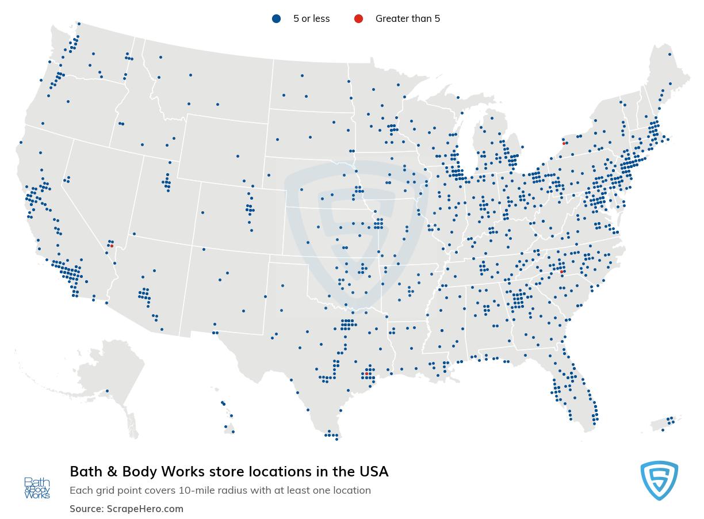 Bath & Body Works store locations