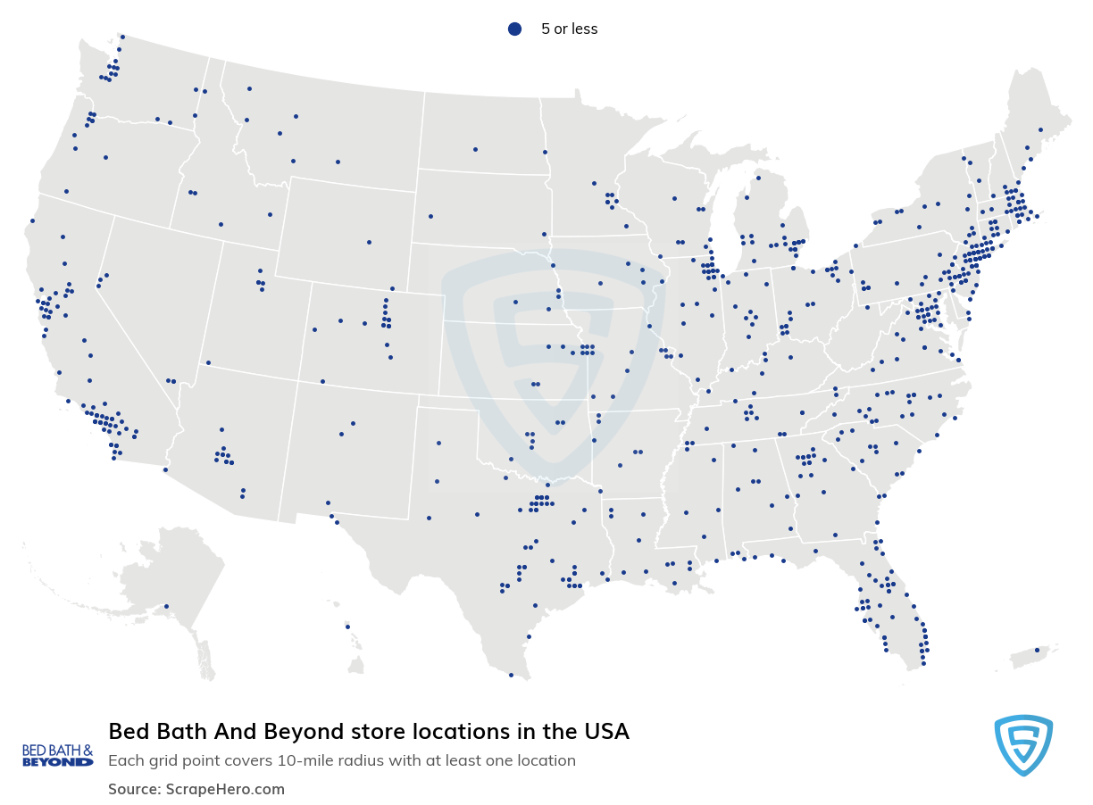 Bed Bath & Beyond Store Locations in the USA