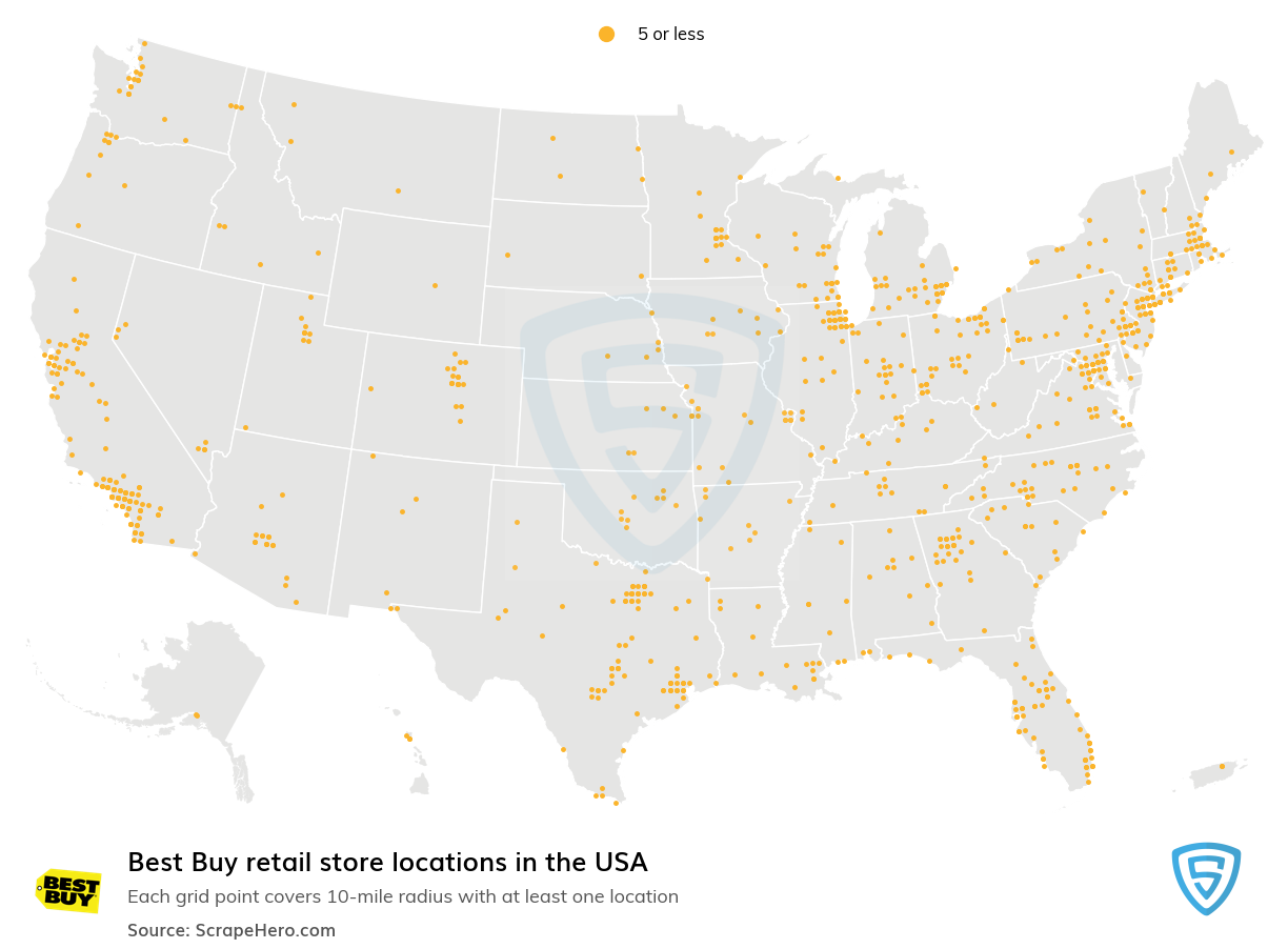 Best Buy Store Locations in the USA