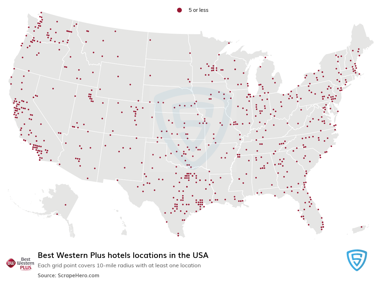 Best Western Plus Hotels locations in the USA