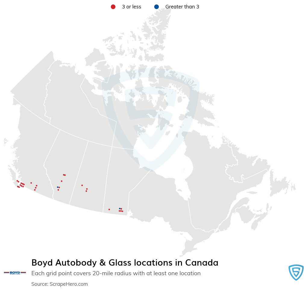 Boyd Autobody & Glass locations
