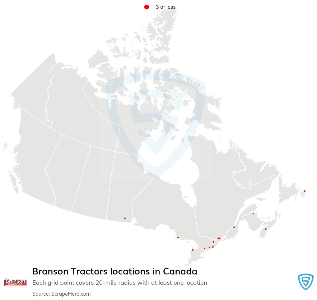 Branson Tractors dealership locations