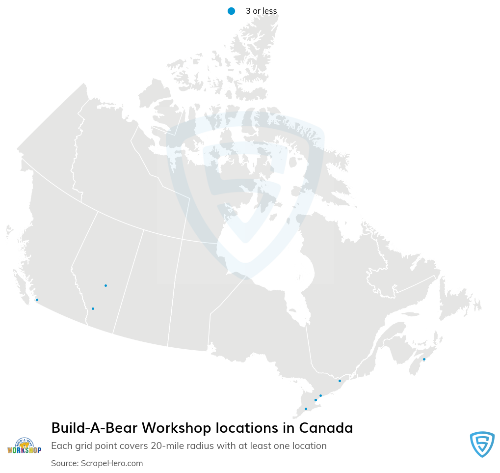 Build-A-Bear Workshop store locations