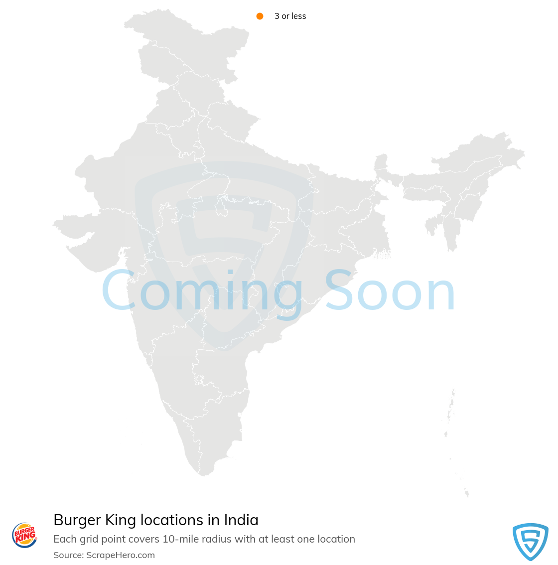 Burger King Store locations in India