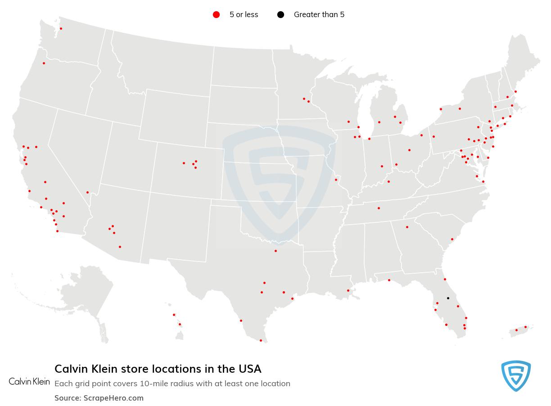 Calvin Klein store locations