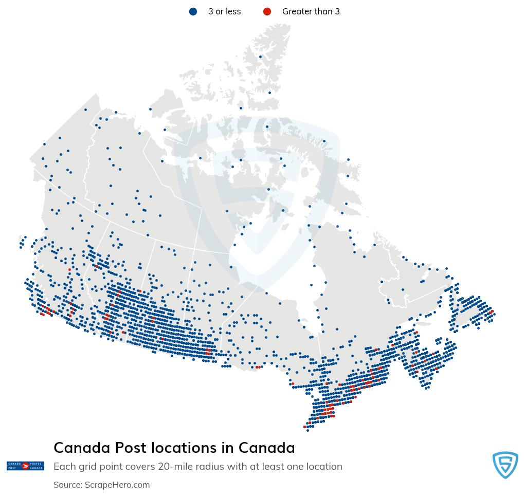 Canada Post locations