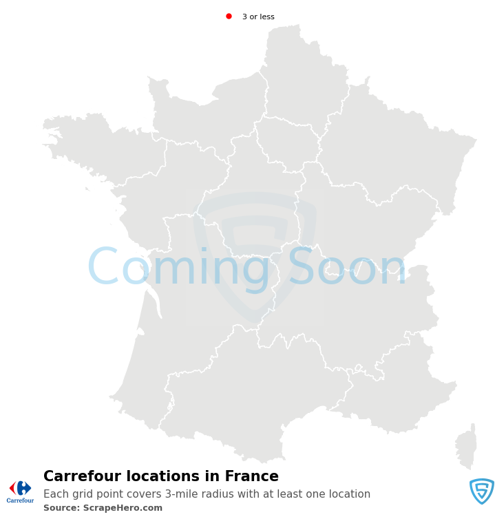 Carrefour Store locations in France