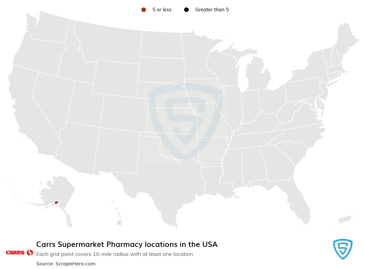 Carrs Supermarket Pharmacy locations in the USA