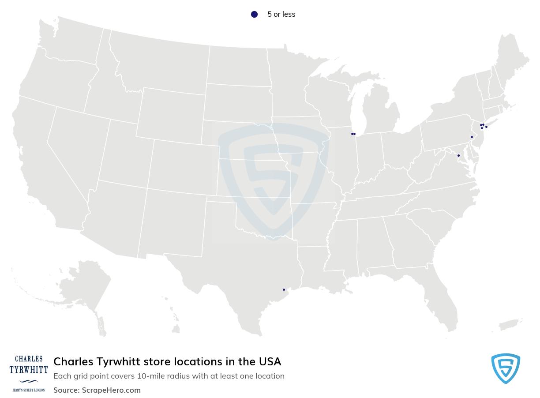 Charles Tyrwhitt store locations