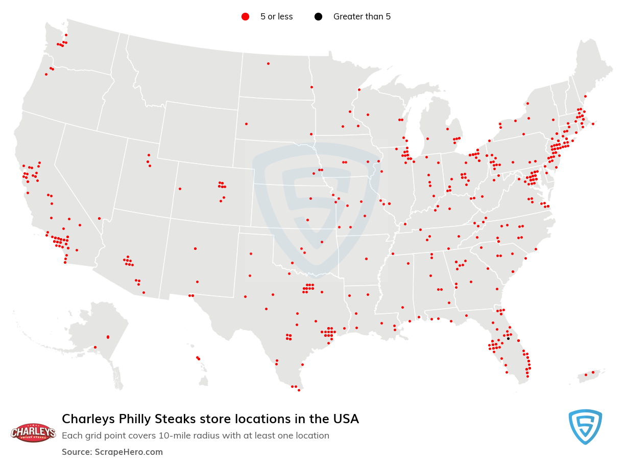 Charleys Philly Steaks store locations