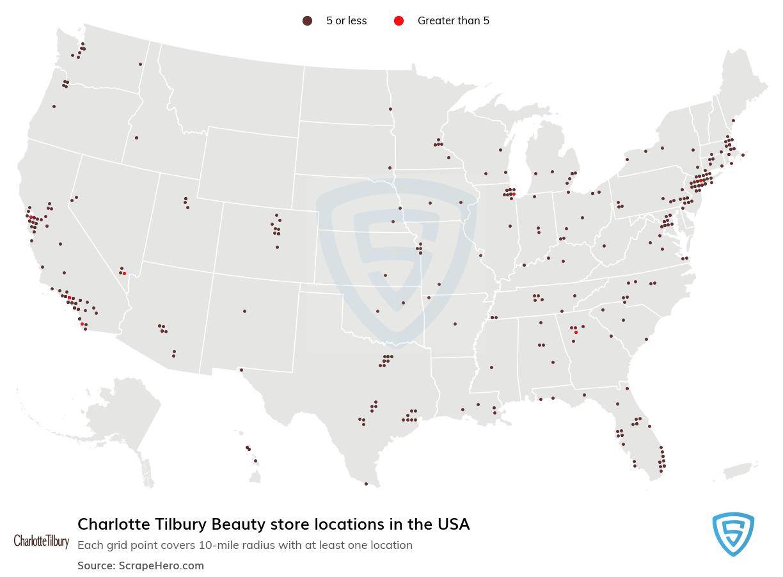 Charlotte Tilbury Beauty store locations
