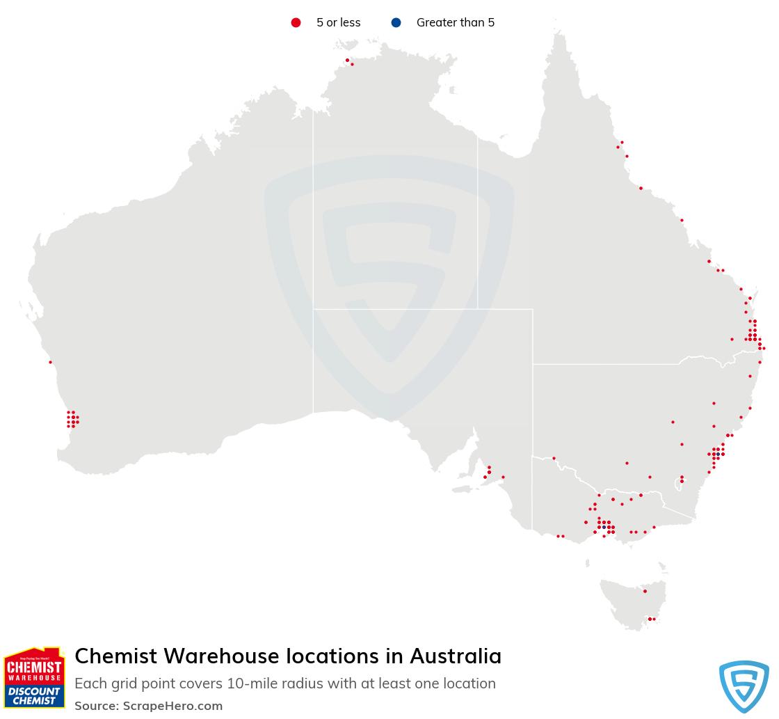 Chemist Warehouse pharmacy locations