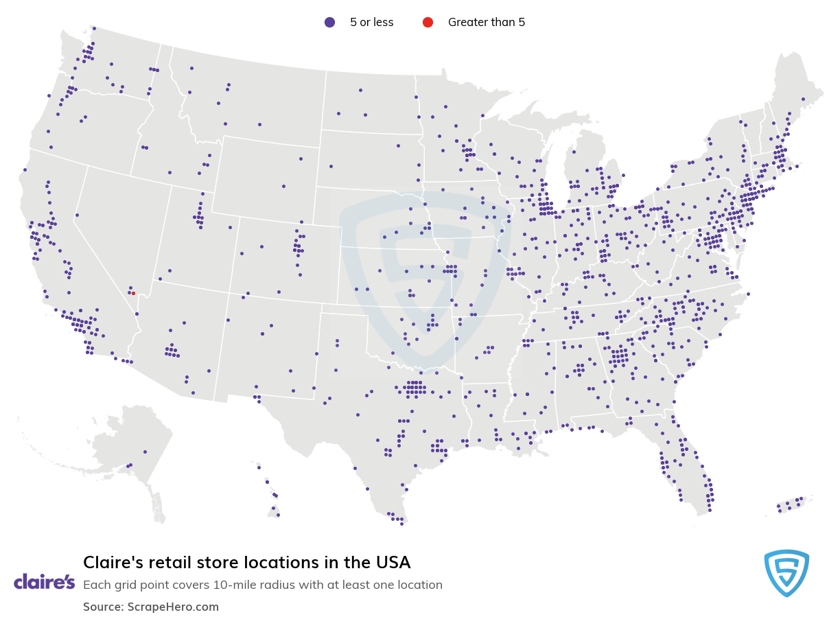 Claire's store locations