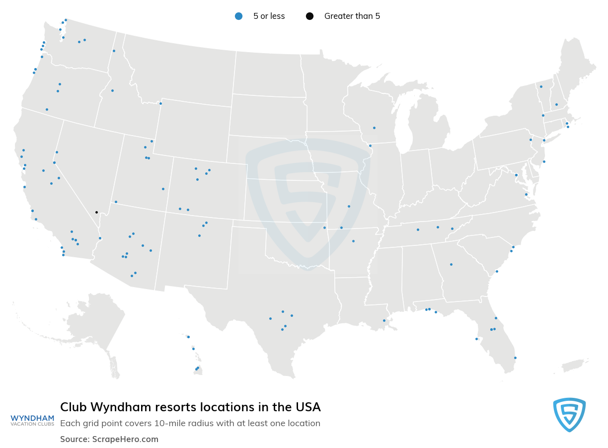 Club Wyndham resorts locations