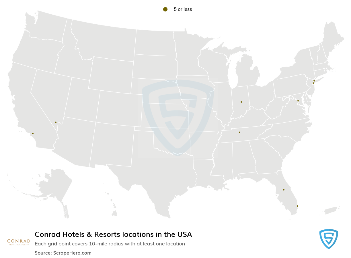 Conrad Hotels & Resorts locations