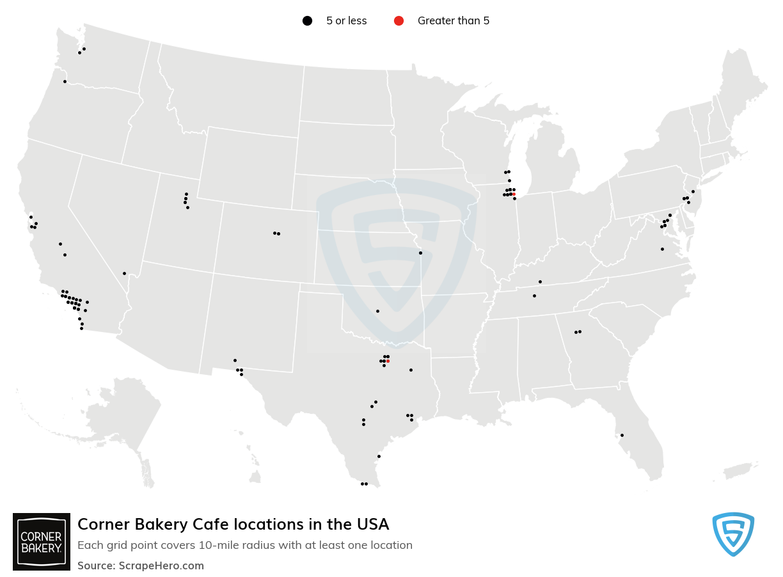 Corner Bakery Cafe locations