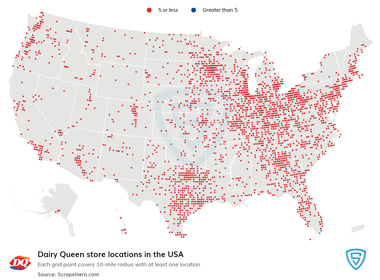 Dairy Queen Store locations in the USA