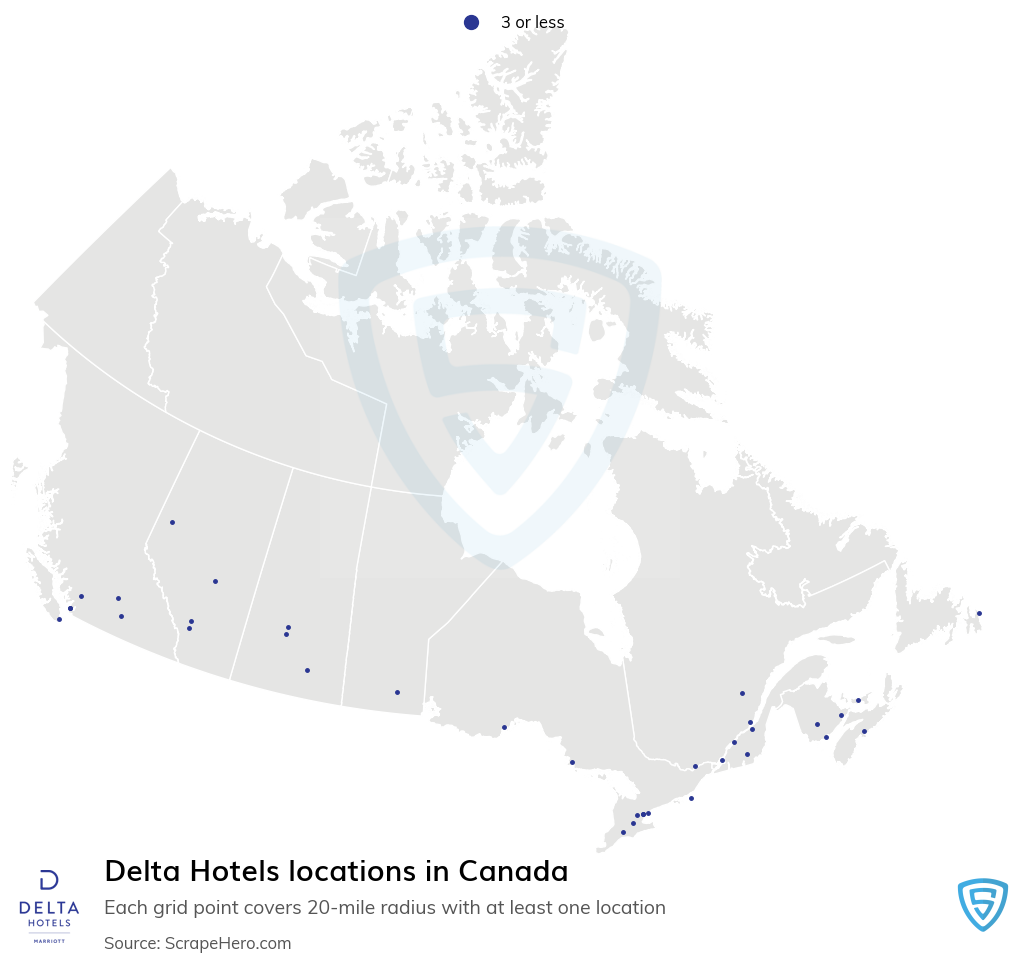 Delta Hotels locations in the Canada