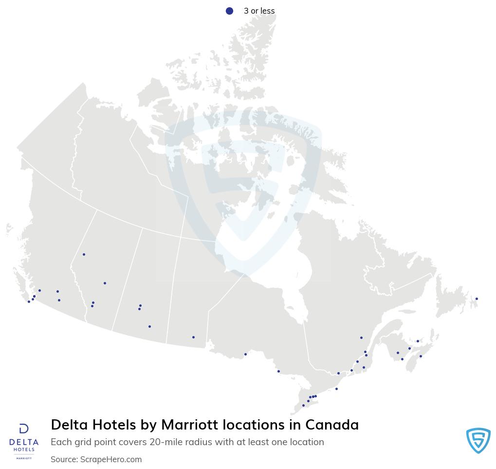 Delta Hotels locations
