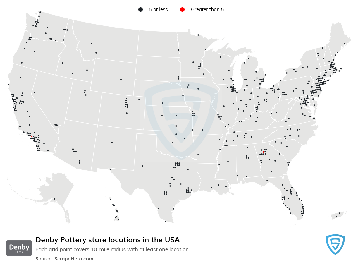 Denby Pottery store locations