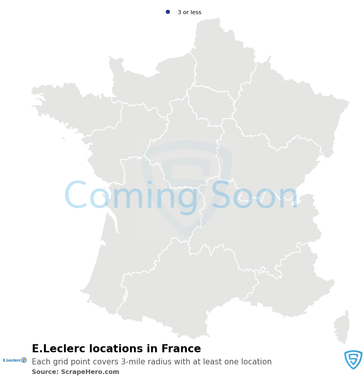 E.Leclerc Store locations in France