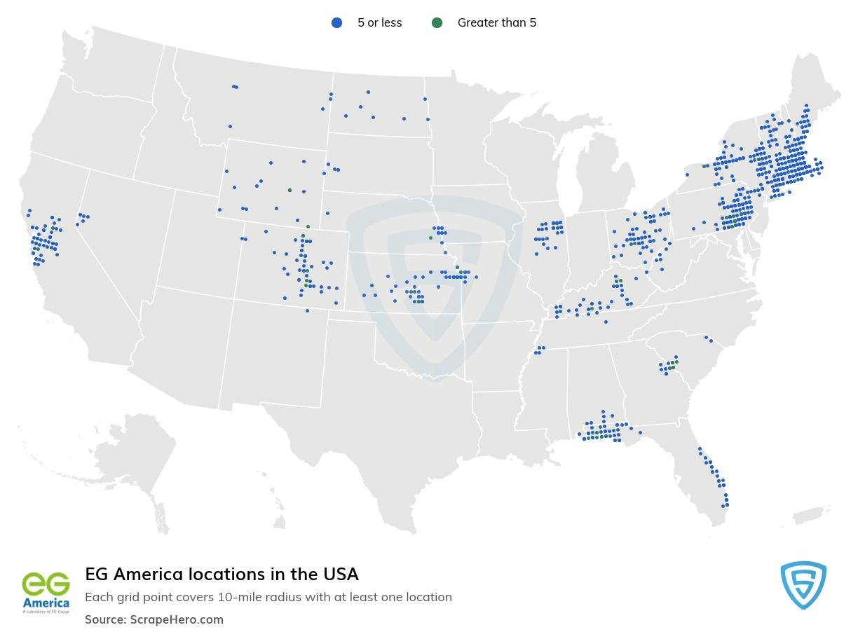 EG America store locations