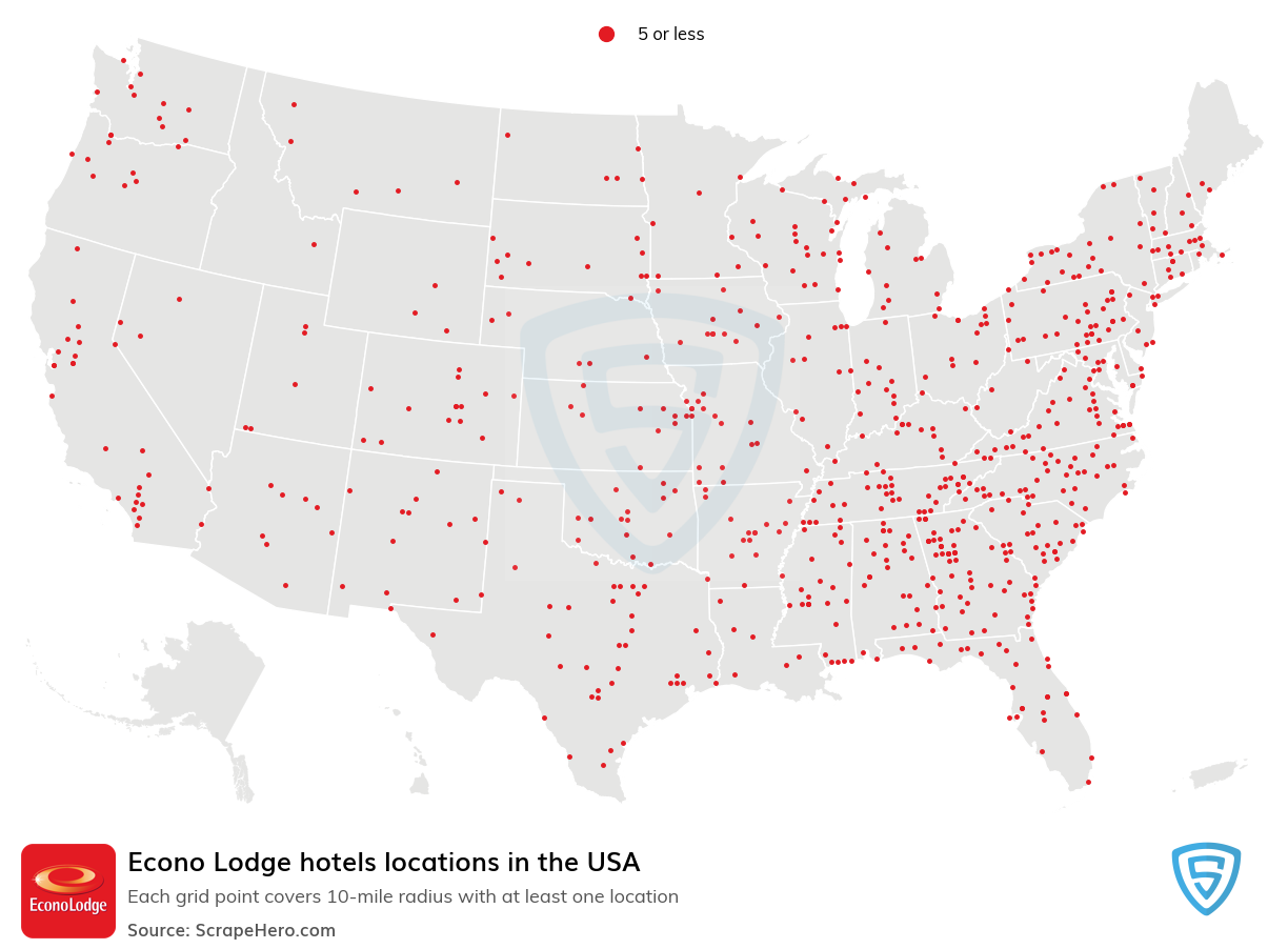 Econo Lodge Hotels locations