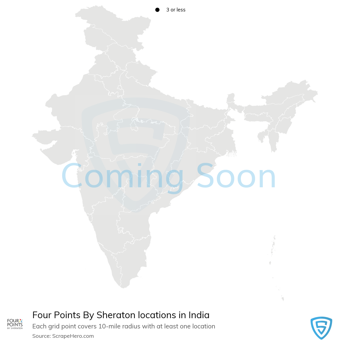 Four Points By Sheraton Hotels locations in India