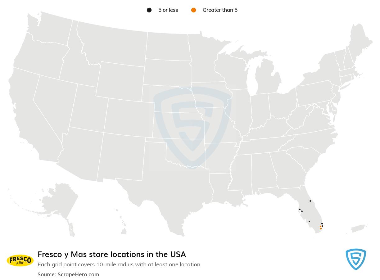 Fresco y Mas store locations