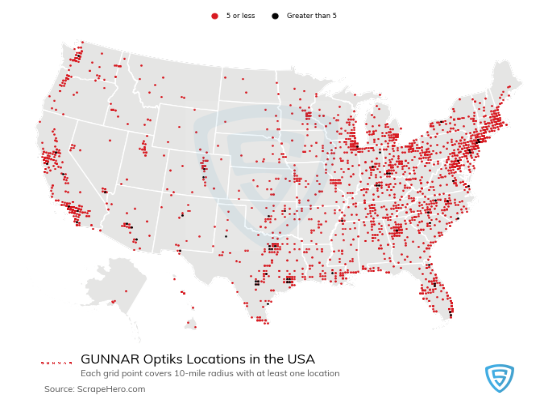 GUNNAR Optiks store locations