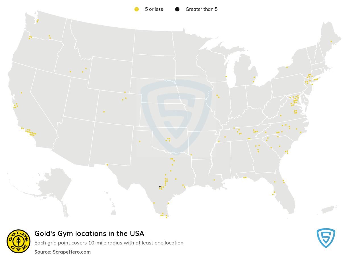 Gold's Gym locations