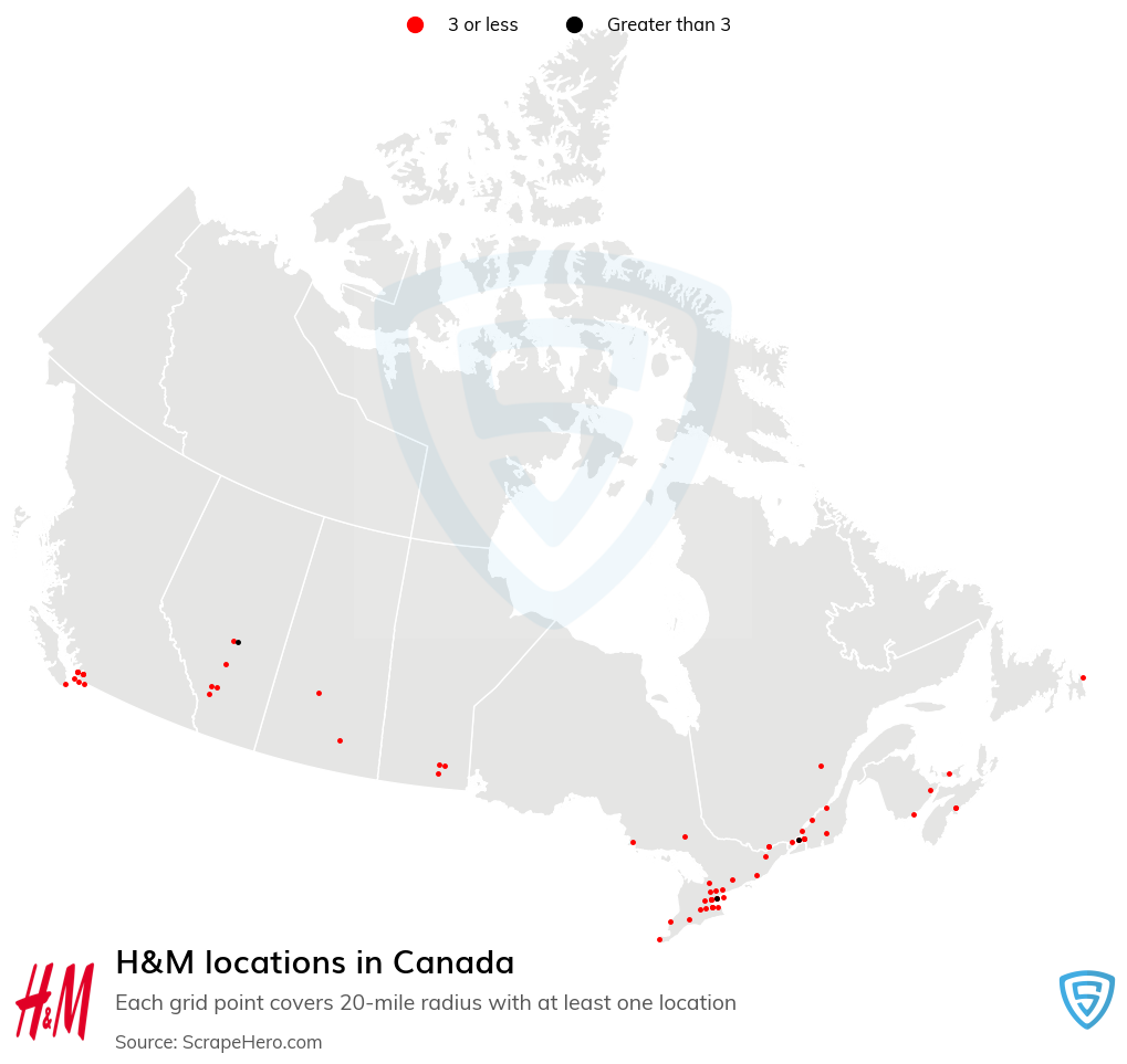 H&M store locations