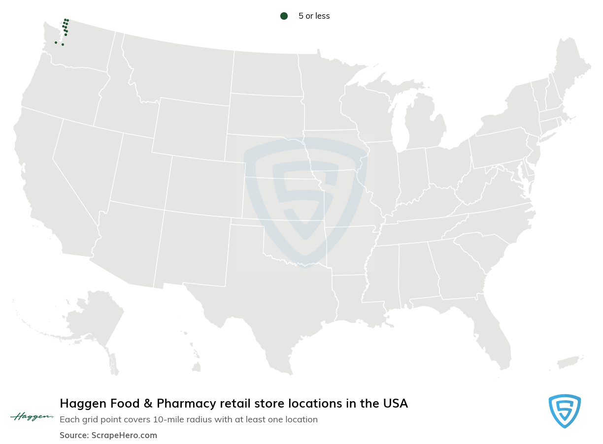 Haggen Food & Pharmacy Store locations in the USA