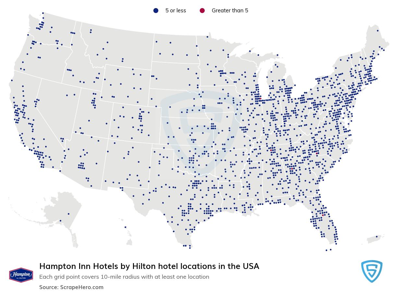 Hampton hotels locations