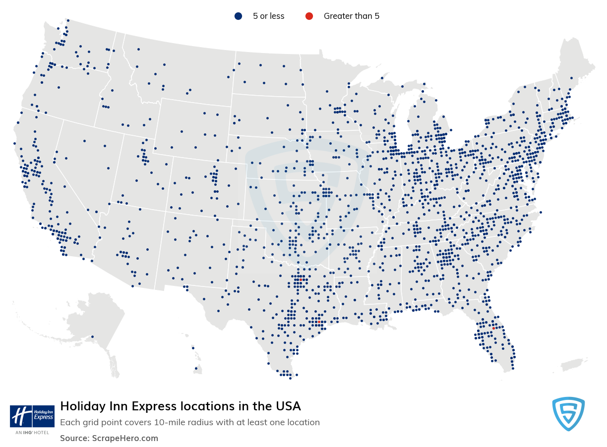 Holiday Inn Express locations in the USA