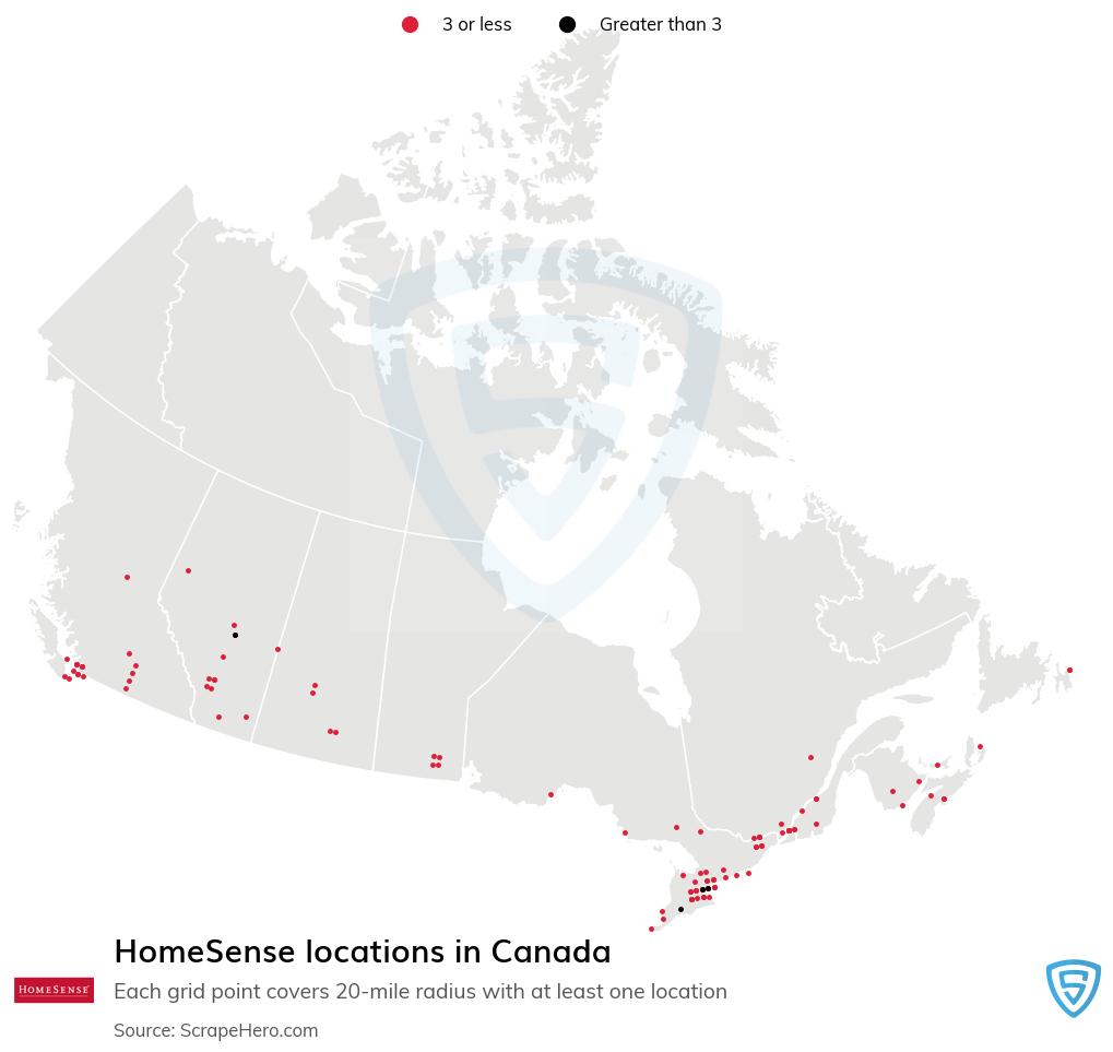 HomeSense store locations